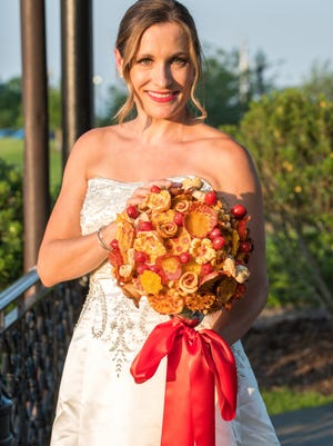"""Villa Italian Kitchen has released what it touts as the """"world's first pizza bouquet."""""""