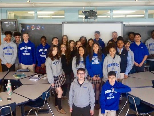 Union Catholic classes collaborate on progressive story