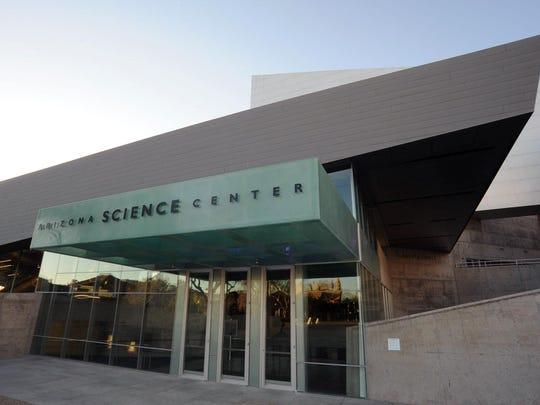 "the ""Arizona sky"" show is playing in the Arizona Science Center Planetarium."