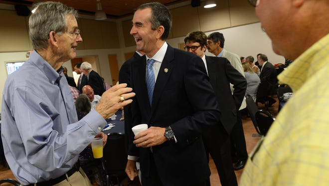 Democrat Ralph Northam is leading his Republican rival Ed Gillespie by 6 points, according to a new poll.