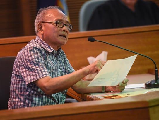 Dr. Aurelio Espinola, chief medical examiner of Guam,