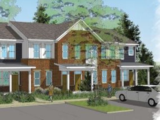 A rendering of Cornerstone at Howell Family Apartments.