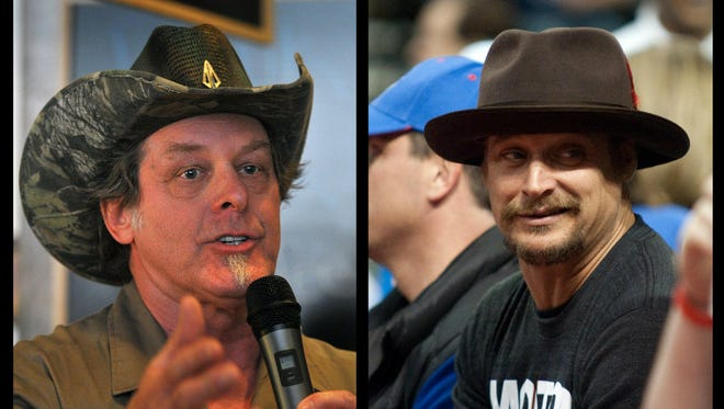 Left to right: Ted Nugent, Kid Rock
