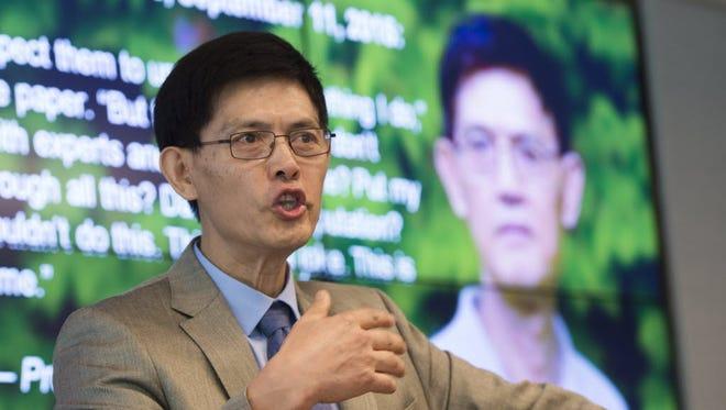 Xiaoxing Xi in Washington on Sept. 15, 2015.