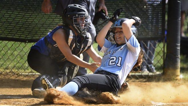 Junior third baseman/catcher Bella Orlandoni (21) will help provide depth and balance for Mahwah.