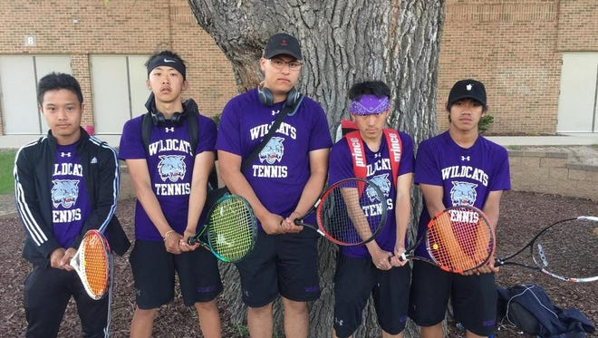The Green Bay West boys tennis program has turned around in part because of its five seniors. The group includes, from left to right, Thong Yang, Tounyia Vang, Douglas Rivera, Joe Lee and Cheenou Xiong.