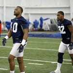 Ole Miss linebackers C.J. Johnson, left, and Temario Strong are part of a revamped defense that is expected to continue at its 2014 pace.