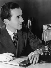 "CBS News correspondent Edward R. Murrow is shown in London, Jan. 1939. He began his on air career in March 1938 with historic on-the-scene reports directly from Vienna as the German troops entered the city during the Austrian Anschluss. After the Anschluss came Munich, the war, and the London blitz, and with them Mr. Murrow's famous trademark, ""This… is London."" (AP Photo)"