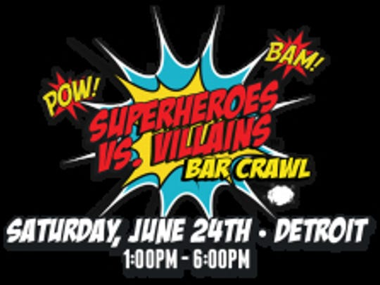 The bar crawl is Saturday afternoon in downtown Detroit.