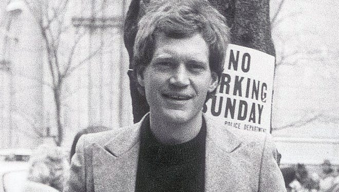 David Letterman in 1982, during his hiatus from the Indianapolis 500.