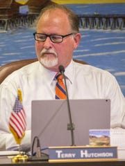 Newly sworn-in Naples City Council member Terry Hutchison during the Naples City Council meeting on Wednesday, Feb. 21, 2018.