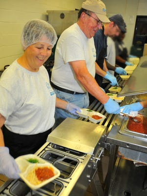 Kay and Rodney Ford volunteer at The Kitchen in Cocoa, a service of Aging Matters in Brevard. The couple, who volunteer in the kitchen once a week, also are volunteer drivers for Meals on Wheels.