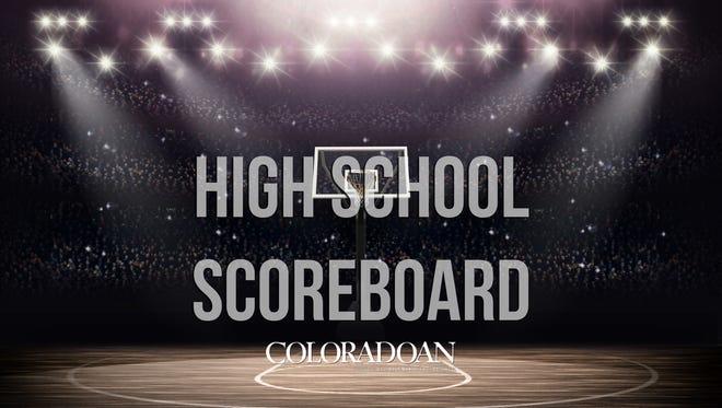 High school scoreboard.