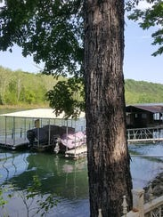 A view of Howard Slagter's dock on Lake Taneycomo in