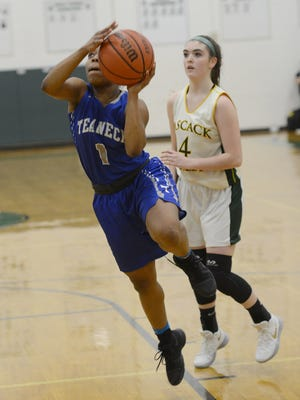 Tamia White is a senior guard and one of Teaneck's team captains.