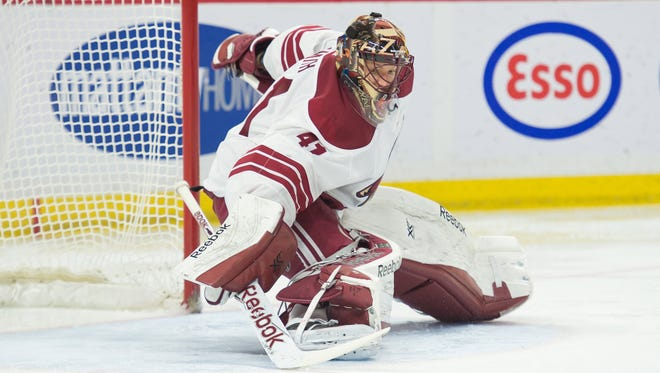 Goalie Mike Smith has a 2.97 goals-against average and a .909 save percentage in 14 career games against Carolina.