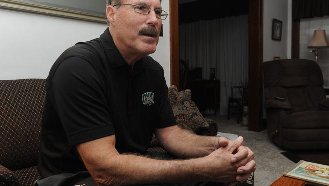 Dwight Garrett talks to the Gazette Tuesday evening at his home in Chillicothe.
