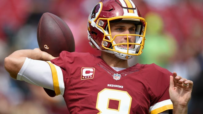 Washington Redskins' quarterback Kirk Cousins has thrown just one touchdown with three interceptions in 89 pass attempts.