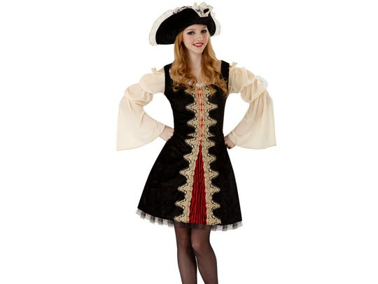 The Totally Ghoul buccaneer beauty costume for $26.99.