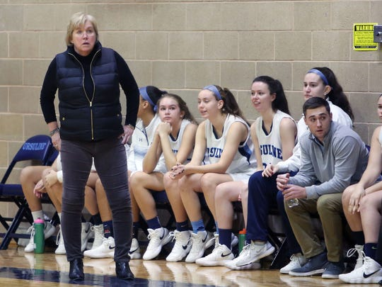 Ursuline defeated North Rockland 57-46  during girls basketball action at Ursuline High School in New Rochelle Jan. 6, 2018.