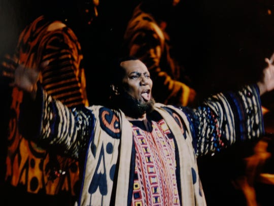 "Simon Estes plays the High Priest in the opera ""Samson"