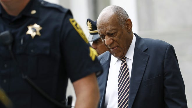 Bill Cosby arrives for jury deliberations in his sexual assault trial at the Montgomery County Courthouse in Norristown, Pa.,  on Wednesday.