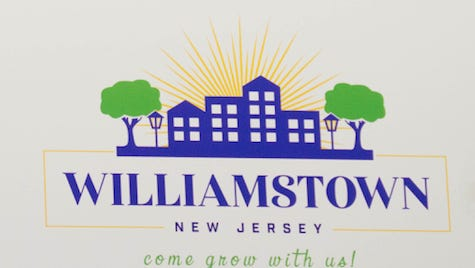Monroe Township officials unveiled Williamstown's  new logo and slogan.