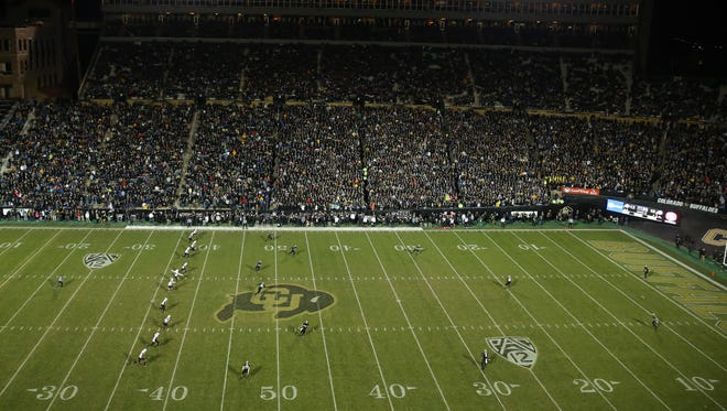 A general view of Folsom Field.