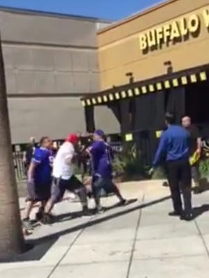 Another fight broke out involving 49ers fans.