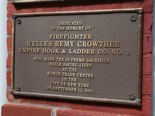 Plaque in memory of Welles Crowther at the Empire Hook