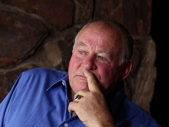 """Jerry Kramer, former NFL player, author and sports commentator, best remembered for his 11-year career with the Green Bay Packers (November 2012). From the documentary, """"Requiem for a Running Back"""", about NFL player Lewis Carpenter. It will be shown at the 2016 Freep Film Festival."""