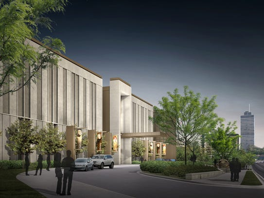 Rendering of the new Tennessee State Museum that under