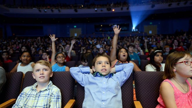Kids visit the Thousand Oaks Civic Arts Plaza in this file photo.