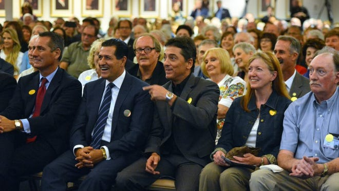 Actor Scott Baio asks former Navy SEAL Rob O'Neill what Hell Week was like when he trained to become a SEAL. Baio was in the audience at the Ronald Reagan Presidential Library & Museum in Simi Valley, where O'Neill spoke.