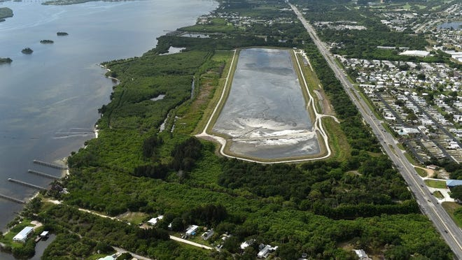 Sen. Thad Altman, R-Rockledge, has filed a bill to allow counties to levy a half- or 1 percent sales tax to pay for muck dredging in the Indian River Lagoon and other waterways. An area in Sebastian was dredged for muck in recent years. The dredged material management area (center), a 46.79-acre containment basin, was used to contain muck dredged from the Indian River Lagoon. The project increased the depth of the lagoon channel to 12 feet from an area 8 miles north of the Indian River/Brevard county line southward to the Wabasso Bridge.