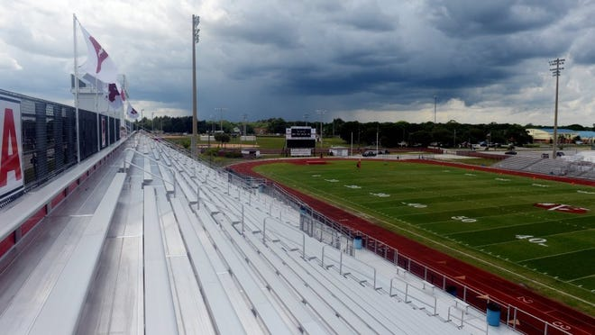 Vero Beach High School officials were ready to show off the newly finished renovations to the Citrus Bowl on May 20, 2016 during their spring football game between the Fighting Indians and the Panthers of Dwyer High School in Palm Beach County, but the chance of severe weather postponed the game until May 24, 2016. Renovations to the stadium, built in 1967, totaled approximately $7.31 million.