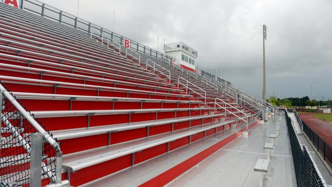 The first phase of construction at Vero Beach High School's Citrus Bowl is complete with the renovation of the home-section bleachers. The next phase of renovations to the 1967 stadium is scheduled to start in December.