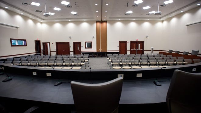 Indian River County School Board meetings are conducted in the multipurpose Joe N. Idlette Jr. Teacher Education Center at the J.A. Thompson Administrative Center. (FILE PHOTO)