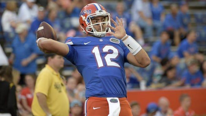 Florida quarterback Austin Appleby (12) is likely to start against Vanderbilt.