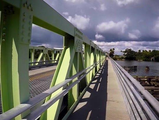 Mathers Bridge is a swing bridge connecting south Merritt