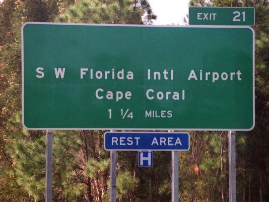 I-75 CAPE CORAL SIGN
