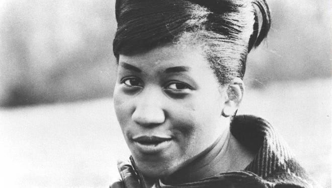 Aretha Franklin, seen here when the Queen of Soul was about 18 and signed to Columbia Records.