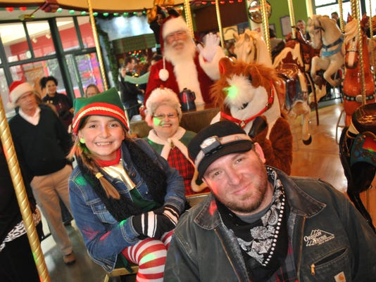 Santa at the Carousel
