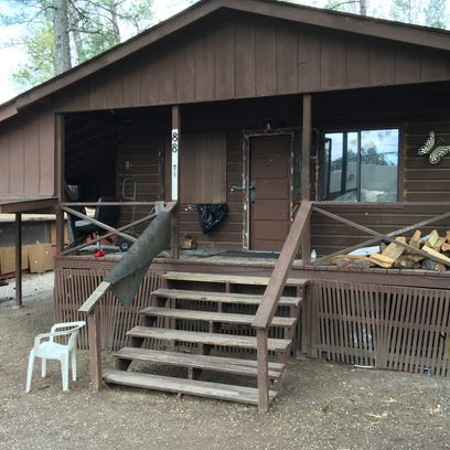 This house at 88 Texas St. in Ruidoso was raided by anti-drug officers Wednesday for the second time since January.