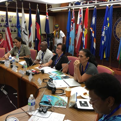 Delegates from several island nations gathered Monday in the Governor's Conference Room at Adelup to discuss cultural and sustainable development of their respective cultures.