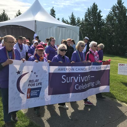 Combined relay walks to kick cancer