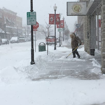 Snow isn't letting up in Door County, forecast includes flurries through Saturday