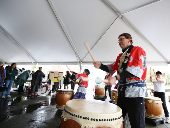 Todd Wilson and the group Monmouth perform Taiko on