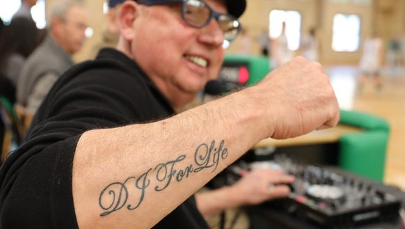 "DJ ""Johnny G"" John Girolamo shows off his ""DJ for Life"""