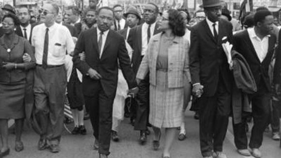 Coretta King and her husband, Rev. Martin Luther King